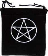Velvet Embroidered Pentagram Bag