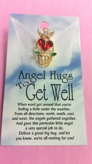 Angel Hugs To Get Well Angel Pin