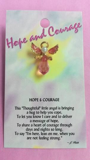 Hope and Courage Angel Pin