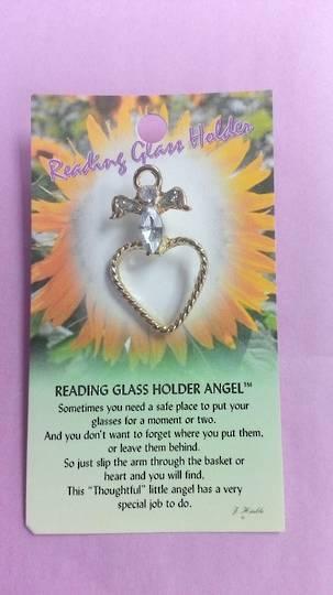 Reading Glass Holder Angel Pin