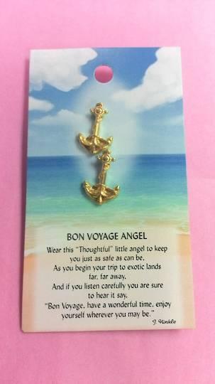 Bon Voyage Angel Pin