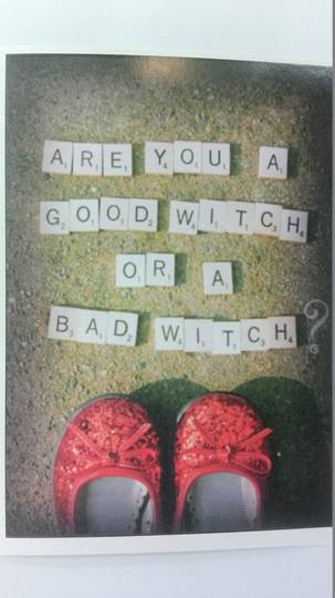 Good Witch Bad Witch Card and Envelope