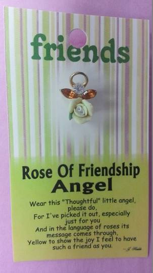 Rose of Friendship Angel Pin
