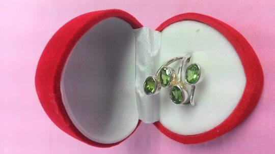 4 Peridots Ring