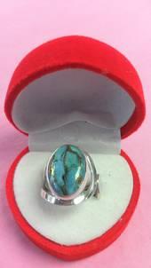 Turquoise Split Band Ring