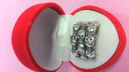 3 Rows of Skulls Ring