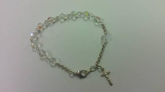 AB Crystal Rosary Bracelet