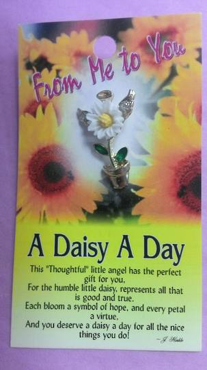 A Daisy a Day Angel Brooch