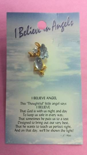 I Believe in Angels Brooch