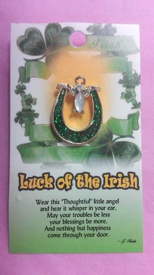 Luck Of The Irish Angel Brooch