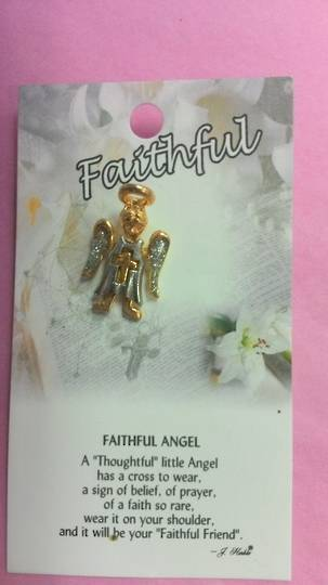 Faithful Angel Brooch