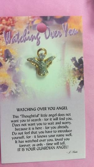 Watching over You Angel Brooch