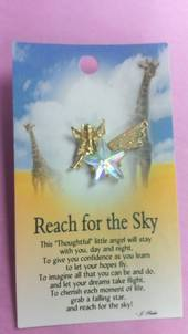 Reach for the Sky Angel Brooch