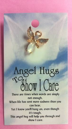 Angel Hugs to Show I Care Brooch
