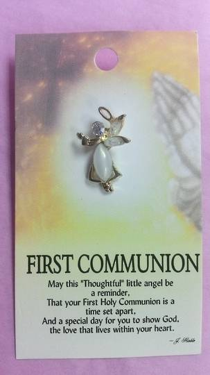 First Communion Angel Brooch