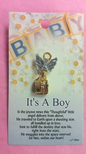 Its A Boy Angel Brooch
