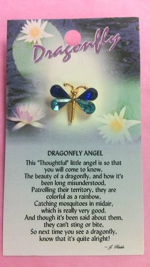 Dragonfly Angel Brooch