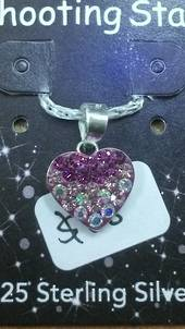 Crystal Evolution Pink Heart Pendant