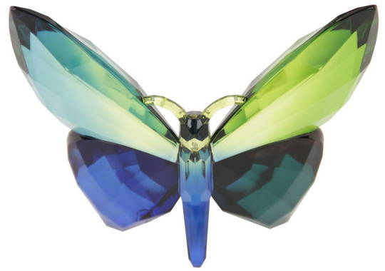 Hanging  Green Acrylic Rainbow Butterfly