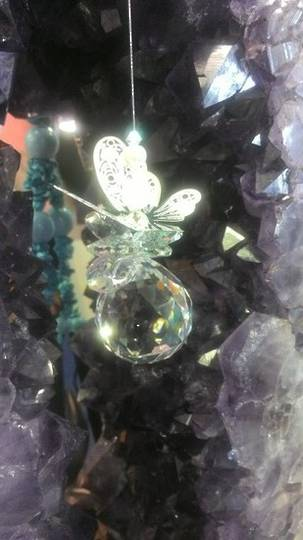 Crystal AB Butterfly on Sphere Suncatcher as $30 now$25