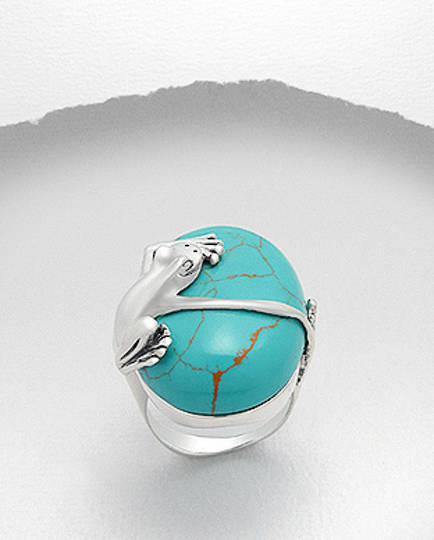 Frog and Turquoise Ring