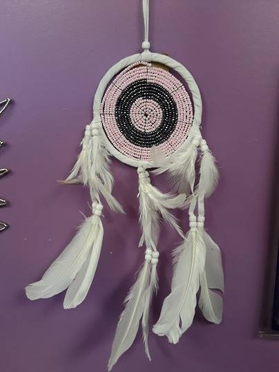 Full Beaded Pink Dreamcatcher