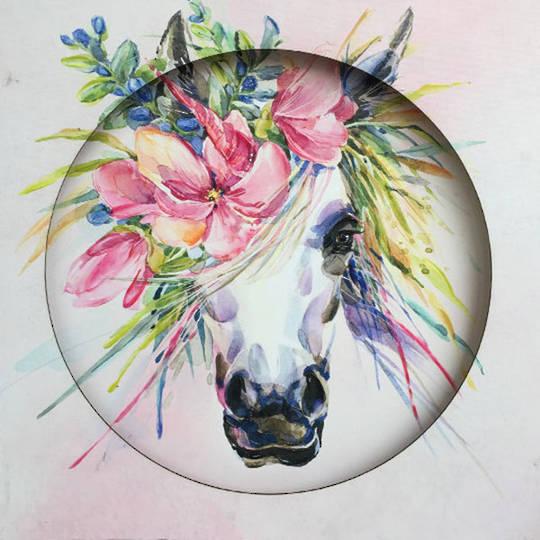 Bella Unicorn Canvas