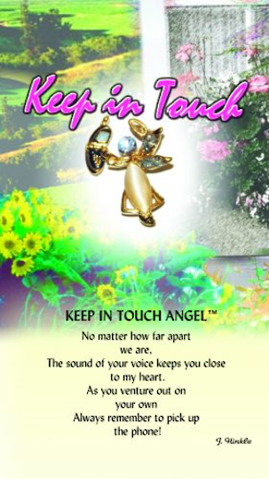 Thoughtful Angel Keep In Touch Angel Pin