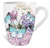 Butterfly and Flowers Mug