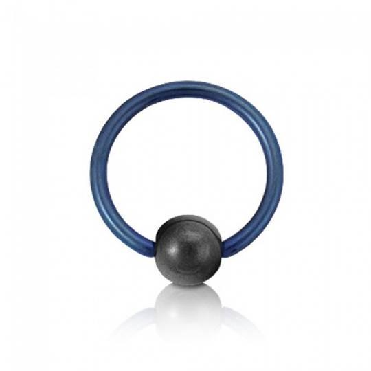 10g Light Blue Titanium BCR 16mm diameter