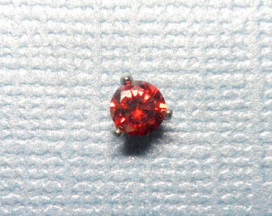 9kt Gold Clear CZ Crystal Mircodermal top