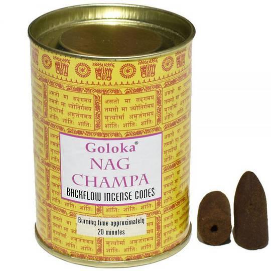 Goloka Nag champa Backflow Incense Cones