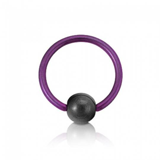 10g Purple Titanium BCR 16mm diameter