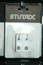 Studex silver studs regular size