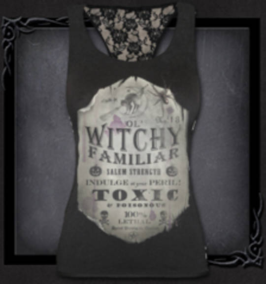 WITCHY FAMILIAR Racerback Lace Top S