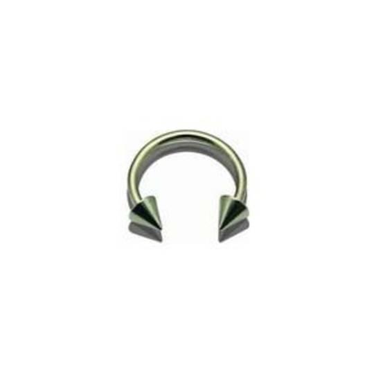Zircon Gold Circular Cone End Horse Shoe 12mm