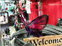 Cerise Pink/Purple Acrylic Hanging Butterfly