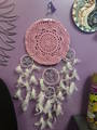Pink Crochet Pentagram Dreamcatcher