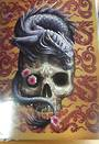 Chinese Dragon on Sugar Skull Gift Card