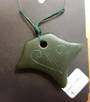 Natural Greenstone Pendant in Stingray Shape