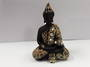 Black/Gold Meditating Buddha