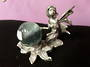 Kneeling Fairy Pewter Crystal Ball Stand