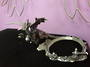 Side Dragon Pewter Crystal Ball Stand