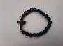 Black Howlite Cross Bracelet