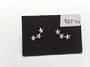 3 Star Sparkly Ear Studs