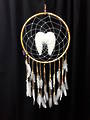 Large Round Angel Wings Dreamcatcher