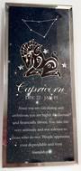 Capricorn  Starsign Glass Plaque