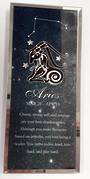 Aries Starsign Glass Plaque