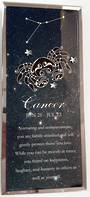 Cancer Starsign Glass Plaque