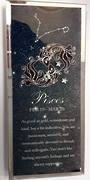 Pisces Starsign Glass Plaque